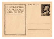 German reich postcard. Isolated in white background Stock Images
