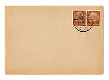 German Reich postcard Hindenburg. German reich postcard with Hiindenburg stamp royalty free stock photos
