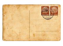 German reich postcard Hindenburg. German reich postcard with Hindenburg stamps stock images