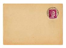 German reich postcard Hitler. German reich postcard with Hitler stamp stock photo