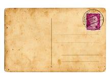 German reich postcard Hitler. German reich postcard with Hitler stamp stock images