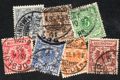 German Reich stamps. Stamps of Germany 1889 complete set Royalty Free Stock Image