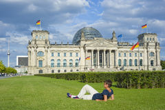 German Reichstag in Berlin Royalty Free Stock Photo