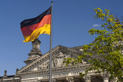 German Reichstag in Berlin Royalty Free Stock Image