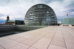 German Reichstag Dome. The Dome on the roof terrace of the German Parliament in Berlin Royalty Free Stock Image