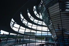 German Reichstag Dome. Inside the Dome of the German Parliament in Berlin Royalty Free Stock Photography