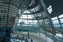German Reichstag Dome. Inside the Dome of the German Parliament in Berlin Stock Photography