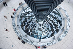 German Reichstag Dome. Inside the Dome of the German Parliament in Berlin Stock Photo