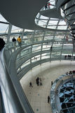 German Reichstag Dome. Inside the Dome of the German Parliament in Berlin Royalty Free Stock Photo