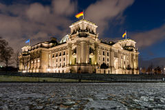 German Reichstag by Night Stock Image