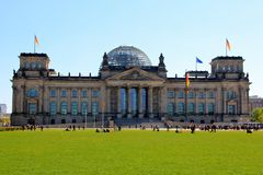 German Reichstag Parliament in Berlin Royalty Free Stock Image