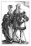 German Renaissance, dancing couple Royalty Free Stock Photos