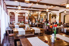 German restaurant in Bucharest Stock Photo