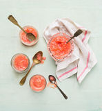 German Rhubarb compote, rustic background Stock Image