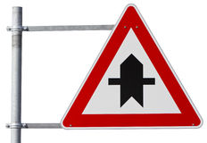 German right of way sign (clipping path included) Royalty Free Stock Photos