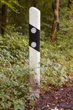 German road boundary pillar Royalty Free Stock Photos