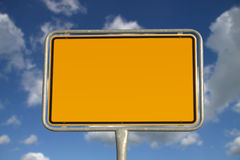 German road sign Royalty Free Stock Photo