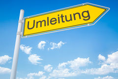 German road sign Royalty Free Stock Photos