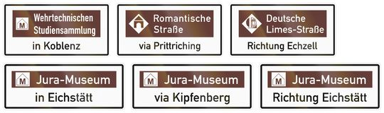 German road sign about museum for military studies in Koblenz Royalty Free Stock Photography