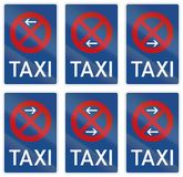 German road sign - Taxi rank - No Stopping Royalty Free Stock Images