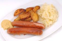 German roasted sausage Stock Photos