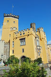 German Romantic yellow castle Stolzenfels, Coblenz Royalty Free Stock Images