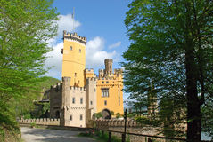 German Romantic yellow castle Stolzenfels, Coblenz. German Romantic yellow castle Stolzenfels, Rhine Valley, Koblenz-Stolzenfels, , Coblenz, Germany stock photography