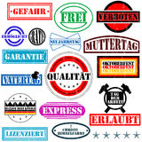 German rubber stamps Royalty Free Stock Photos
