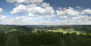 German Sauerland mountains Royalty Free Stock Images