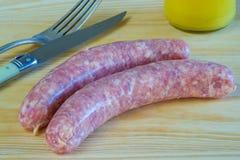 German sausage Bratwurst Stock Photo