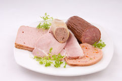 German sausage plate Stock Images