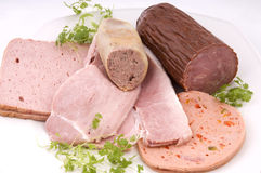 German sausage plate Stock Photo