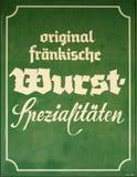 German Sausage Sign Stock Images