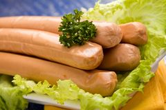 German Sausages Stock Photography