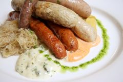 German sausages Royalty Free Stock Image
