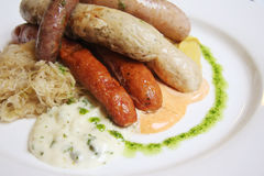 German sausages Royalty Free Stock Photography