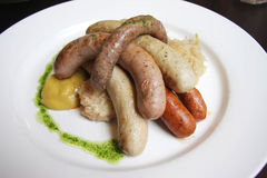 German sausages Stock Photo