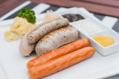German sausages Stock Photo
