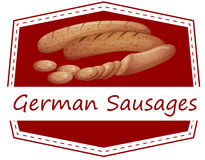 German sausages Stock Images