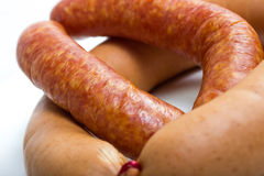 German sausages. Some fresh plain german sausages Stock Photography