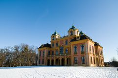 German schloss (castle) in Ludwigsburg Stock Image