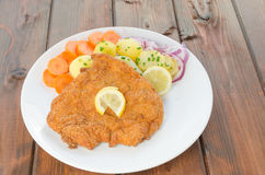 German schnitzel Royalty Free Stock Photos