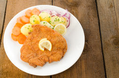 German schnitzel Stock Photo