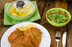 German schnitzel Royalty Free Stock Photography