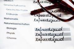 German school certificate Royalty Free Stock Image
