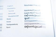 German school certificate Royalty Free Stock Photos