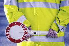 German school crossing guard Stock Images