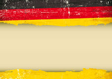 German scratched flag. A German flag with a large frame for your message. Ideal to use for a screen Royalty Free Stock Photos