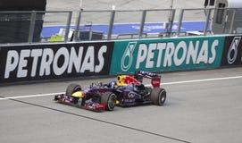 Sebastian Vettel gestures after winning Malaysian  Royalty Free Stock Image