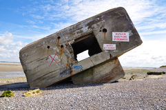 German Second World War Bunker. In baie de somme, france Royalty Free Stock Photography